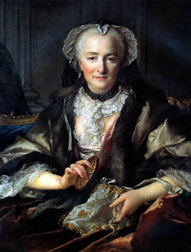 ТОКЕ ЛУИ Мадам д'Анже, супруга генерала Франсуа Бальтазара д'Анже Дюфэ, 1753