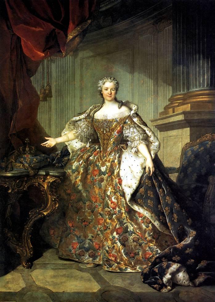 ТОКЕ ЛУИ Мария Лещинска, королева Франции, жена Людовика XV, 1740