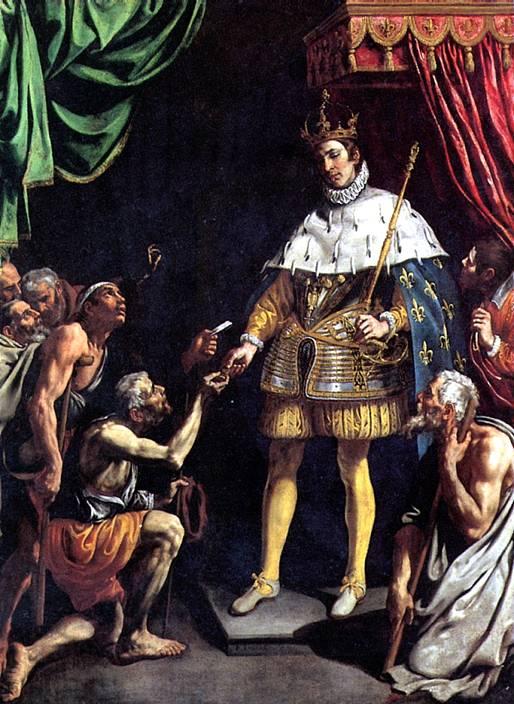 ТРИСТАН ЛУИС Святой Людовик, король Франции, раздающий милостыню