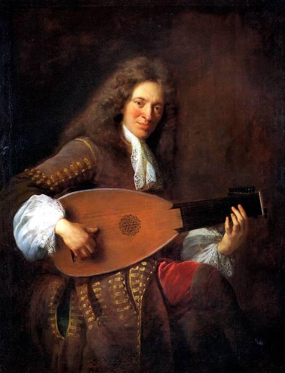 ТРУА ФРАНСУА ДЕ Шарль Мутон, играющий на лютне, 1690