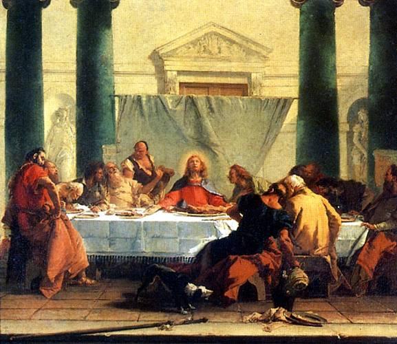 ТЬЕПОЛО ДЖОВАННИ БАТТИСТА Тайная вечеря, ок. 1745-1750