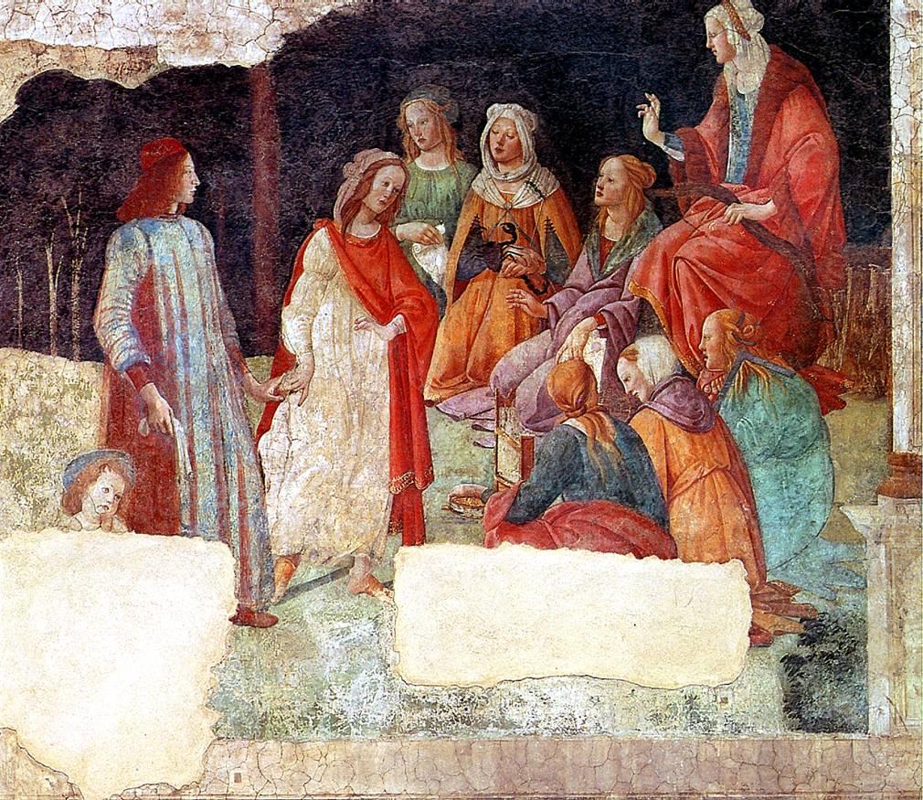 ФИЛИПЕПИ АЛЕССАНДРО ДИ МАРИАНО, ПРОЗВАННЫЙ БОТТИЧЕЛЛИ Юноша, приветствуемый Свободными Искусствами