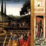 <b>ФОЛИНЬО НИККОЛО ДА Два ангела, несущие мемориальное панно; Христос в Гефсиманско...</b>