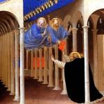 <b>ФРА АНЖЕЛИКО Святые Петр и Павел являются св. Доминику</b>