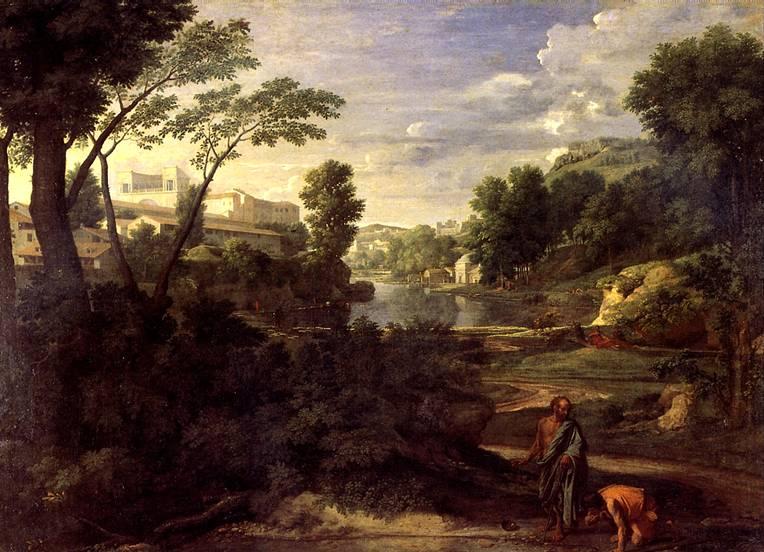 ПУССЕН НИКОЛА Пейзаж с Диогеном, 1648