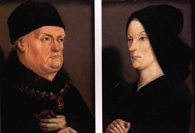 ФРОМАН НИКОЛА Портреты короля Рене и Жанны де Лаваль — диптих Матерон