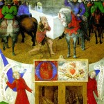 <b>ФУКЕ ЖАН Святой Мартин и нищий (пергамент на дереве)</b>