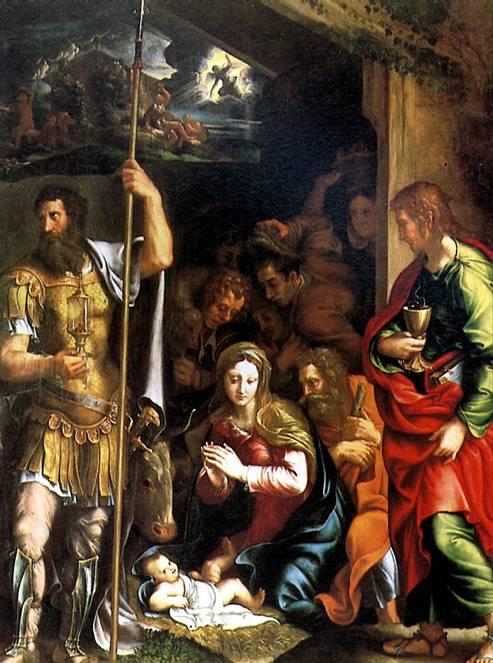ПИППИ ДЖУЛИО, ПРОЗВАННЫЙ ДЖУЛИО РОМАНО Рождество и Поклонение пастухов, 1531/34