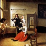 <b>ХОХ ПИТЕР ДЕ Дама с двумя кавалерами, 1658</b>