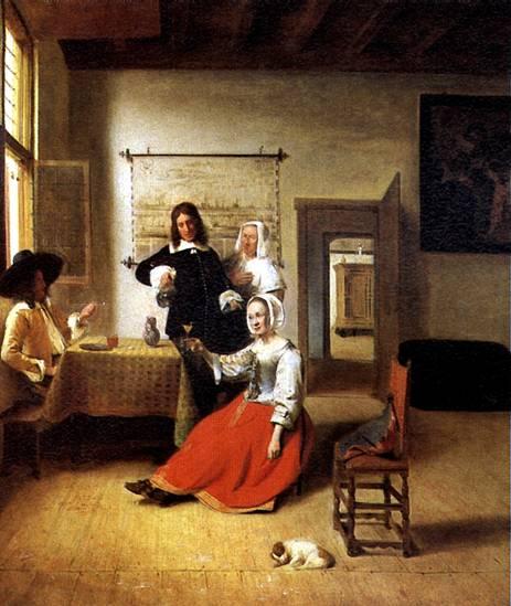 ХОХ ПИТЕР ДЕ Дама с двумя кавалерами, 1658