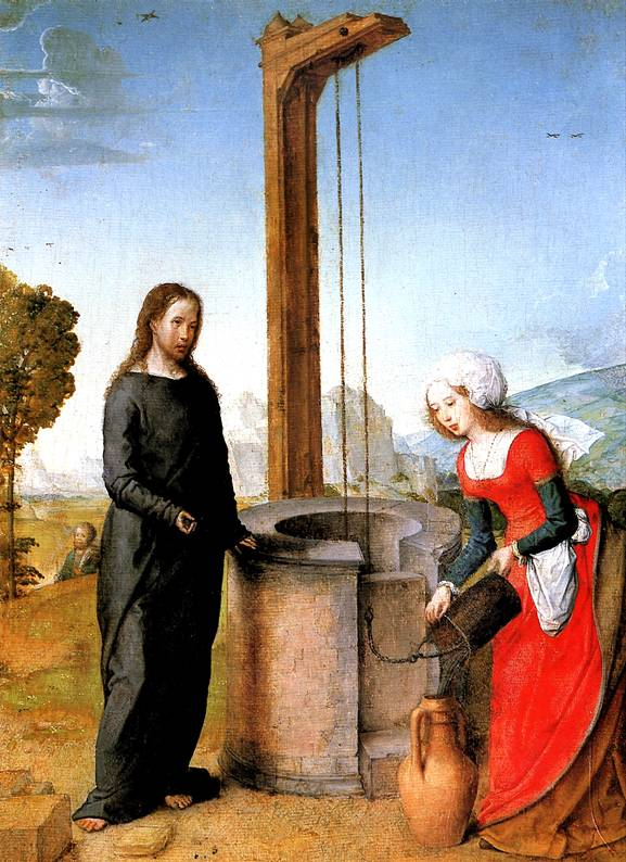 ХУАН ФЛАНДРСКИЙ Христос и самарянка, до 1504