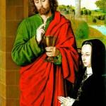 <b>ХЭЙ ЖАН Анна Французская, герцогиня Бурбонская со святым патроном Иоанном Еванге...</b>