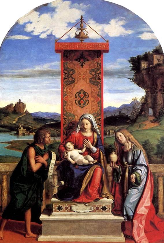 ЧИМА ДЖОВАННИ БАТТИСТА, ПРОЗВАННЫЙ ЧИМА ДА КОНЕЛЬЯНО Мадонна с младенцем и со святыми Иоанном Крестителем и Марией Магдалиной