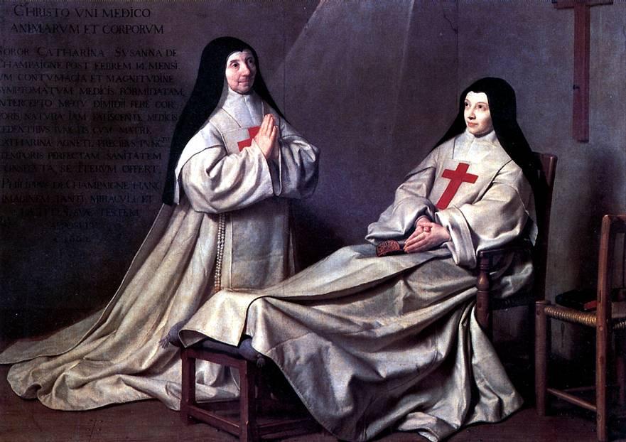 ШАМПЕНЬ ФИЛИПП ДЕ Аббатиса, мать Катрин Аньес Арно, и сестра Катрин де Сент-Сюзан. По обету 1662 г