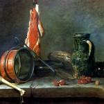 "<b>ШАРДЕН ЖАН БАТИСТ СИМЕОН ""Скудная диета"" с кухонной посудой, 1731</b>"