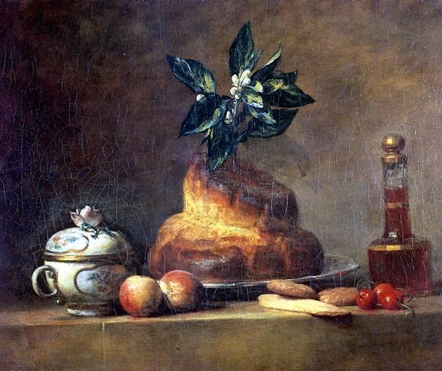 ШАРДЕН ЖАН БАТИСТ СИМЕОН Бриошь (Десерт), 1763