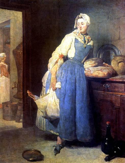 ШАРДЕН ЖАН БАТИСТ СИМЕОН Разносчица (Возвращение с рынка), 1739