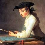 <b>ШАРДЕН ЖАН БАТИСТ СИМЕОН Юный рисовальщик, 1737</b>