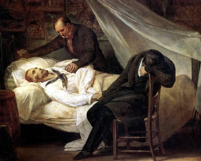 ШЕФФЕР АРИ Смерть Жерико (26 января 1824 г.), 1824