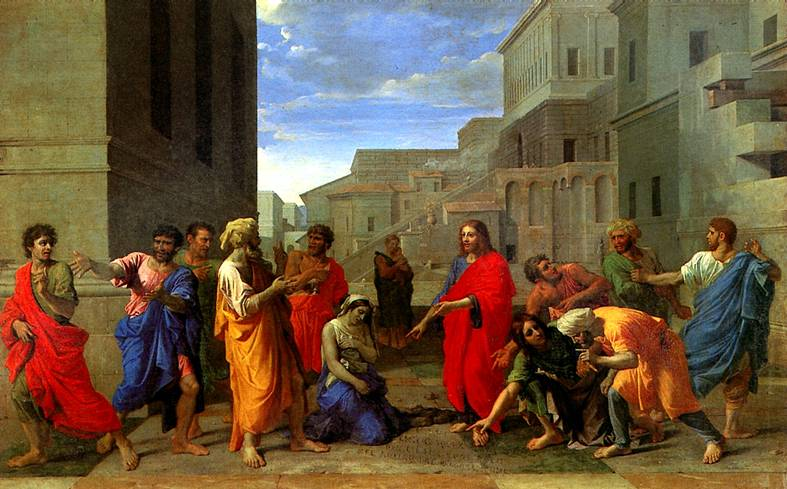 ПУССЕН НИКОЛА Христос и грешница