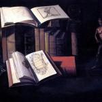 <b>ШТОСКОПФ СЕБАСТЬЯН Натюрморт с книгами, свечой и бронзовой статуей</b>