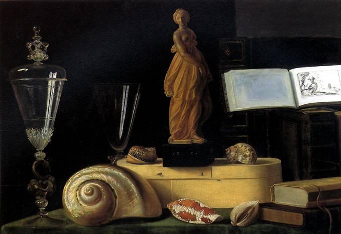 ШТОСКОПФ СЕБАСТЬЯН Натюрморт со статуэткой и раковиной