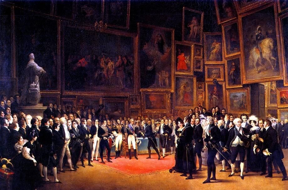 ЭЙМ ФРАНСУА ЖОЗЕФ Лувр, 15 января 1825 г. Карл Х награждает художников