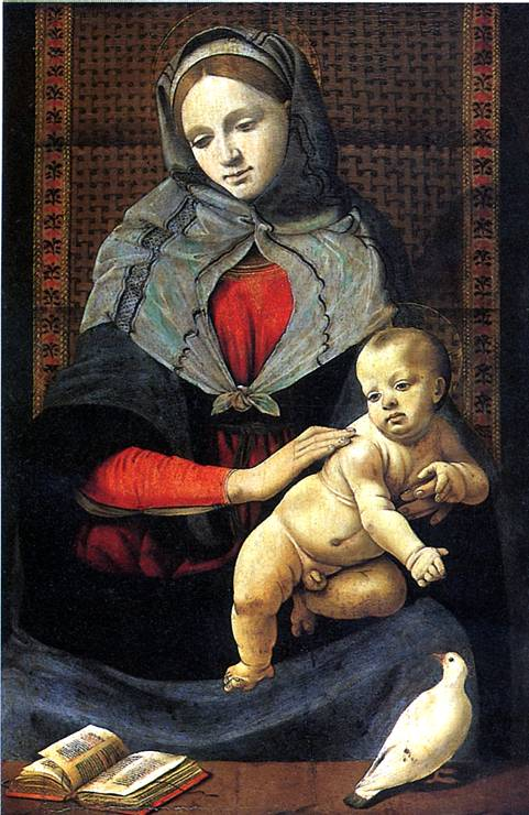 ПЬЕРО ДИ КОЗИМО Мадонна с младенцем и с голубем