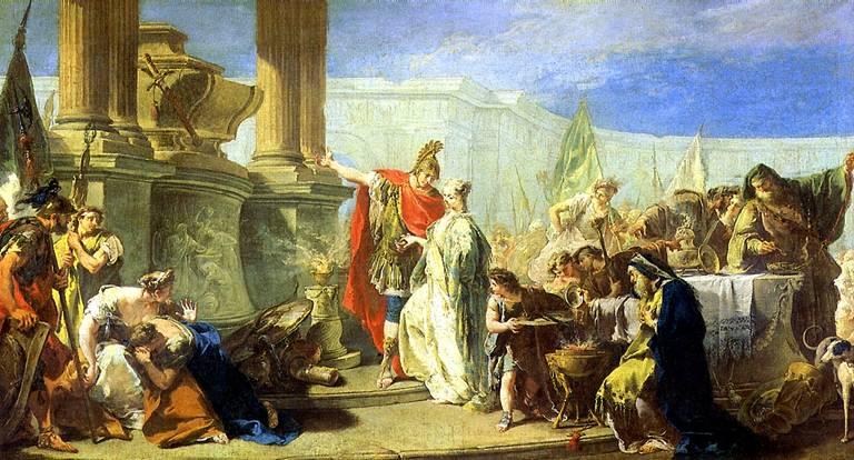 ПИТТОНИ ДЖОВАННИ БАТТИСТА Поликсена, приносящая жертву богам Ахилла