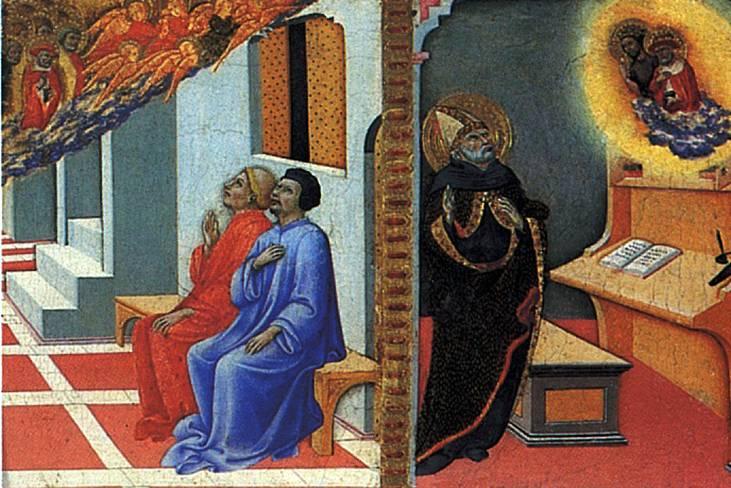 ПЬЕТРО САНО ДИ Св. Иероним является Сульпицию Северу и св. Августину