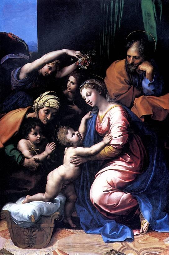 РАФАЭЛЬ САНТИ Святое семейство, или Большое Святое семейство Франциска I