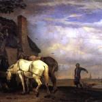 <b>ПОТТЕР ПАУЛЮС Две лошади перед домом, 1649</b>