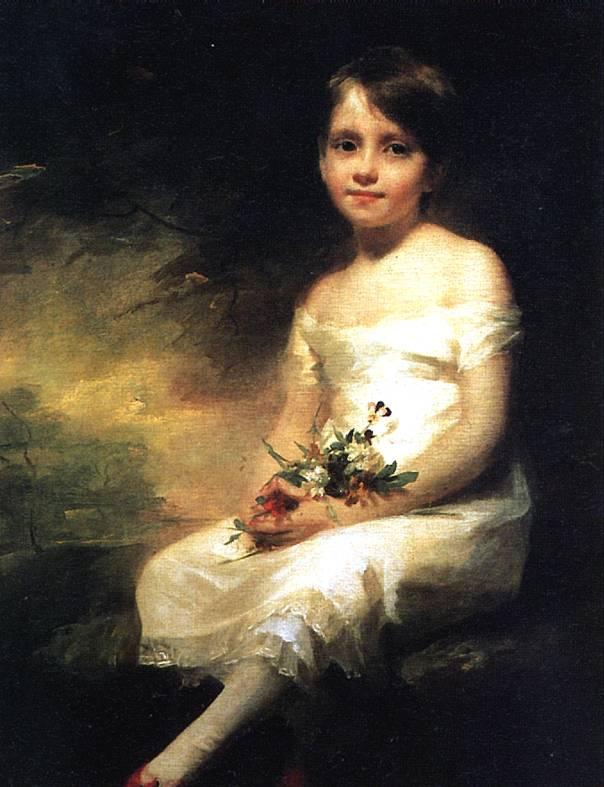 РЕБЕРН Маленькая девочка с цветами