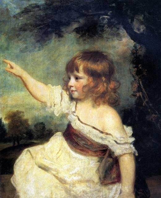 РЕЙНОЛДС ДЖОШУА Портрет леди Джонс в детстве (Молодец, заяц!), ок. 1788/89