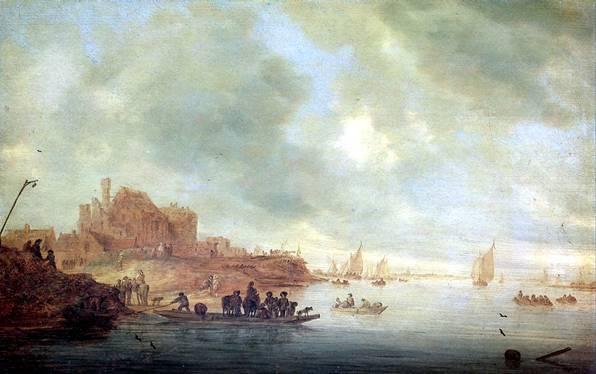 РЁЙСДАЛ САЛОМОН ВАН Паром, 1643
