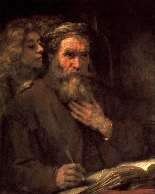 РЕМБРАНДТ Св. Матфей и ангел, 1661
