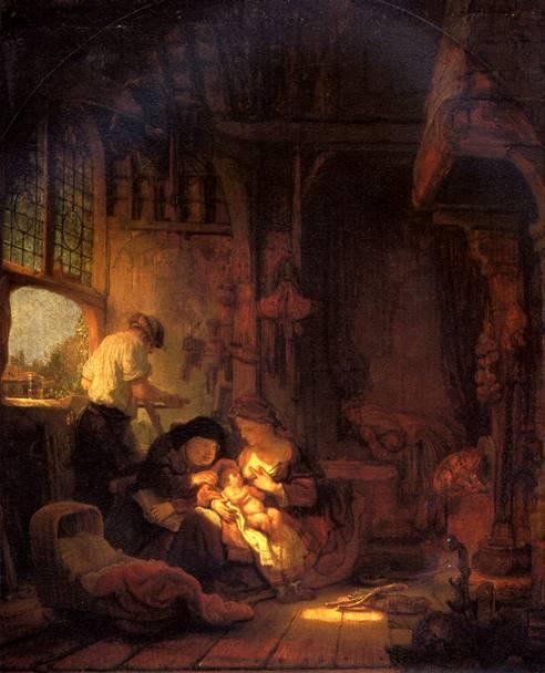 РЕМБРАНДТ Святое семейство, 1640