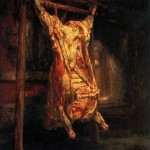 <b>РЕМБРАНДТ Туша быка, 1655</b>