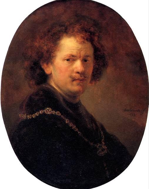 РЕМБРАНДТ ХАРМЕНС ВАН РЕЙН Автопортрет без шляпы, 1633