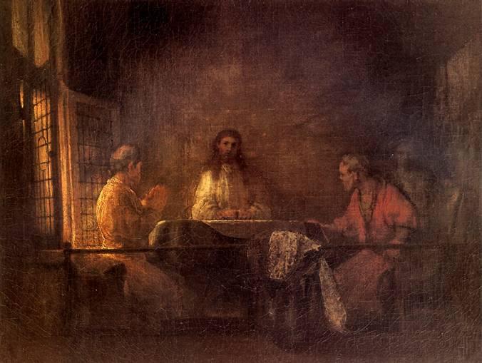 РЕМБРАНДТ Христос в Эммаусе