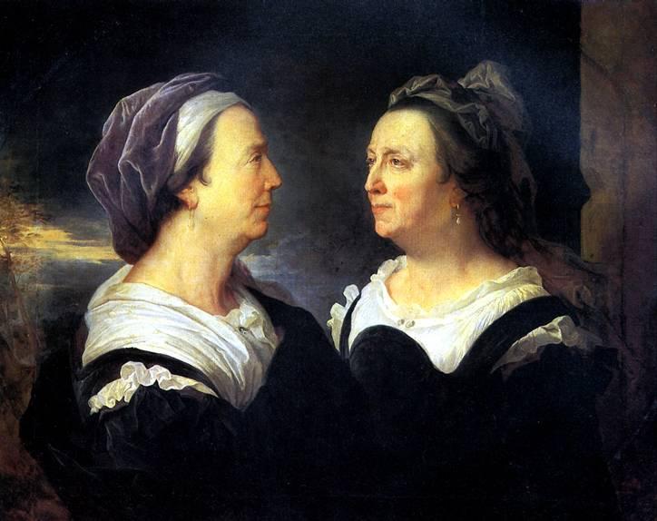 РИГО ГИАЦИНТ Мадам Риго, мать художника, в двух поворотах, 1695
