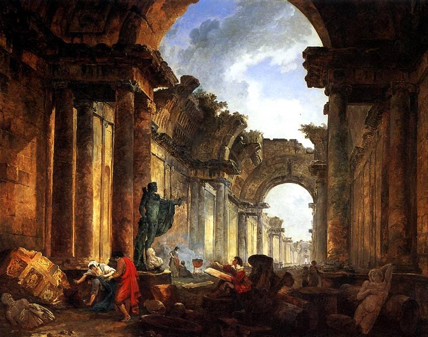 РОБЕР ЮБЕР Воображаемый вид Большой галереи в руинах