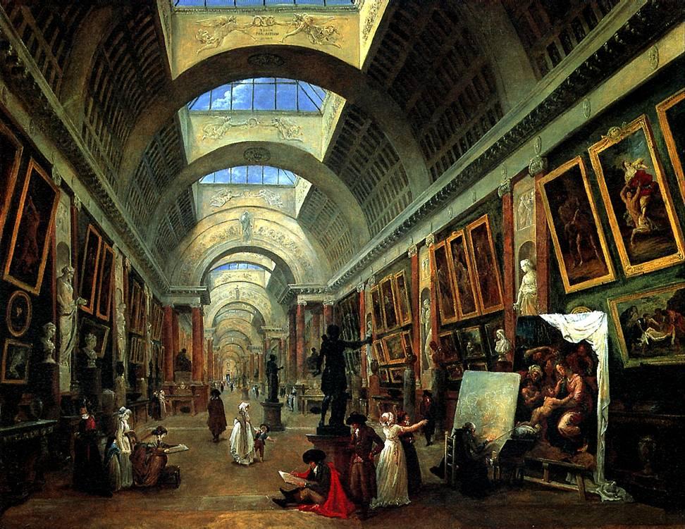 РОБЕР ЮБЕР Проект оформления Большой галереи Лувра, 1796