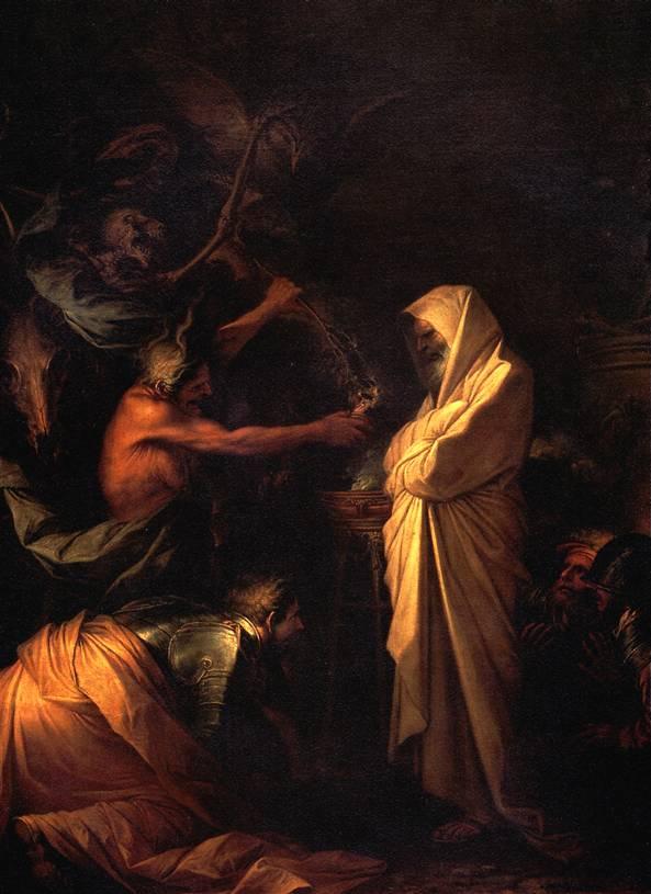 РОЗА САЛЬВАТОРЕ Дух Самуила, призванный к Саулу волшебницей из Аэндора, 1668