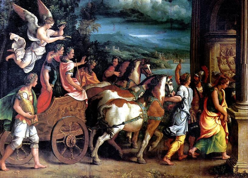 РОМАНО ДЖУЛИО Триумф Тита и Веспасиана, ок. 1537