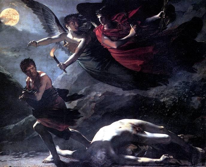 ПРЮДОН ПЬЕР ПОЛЬ Справедливость и Божественное Отмщение преследуют Преступление, 1808