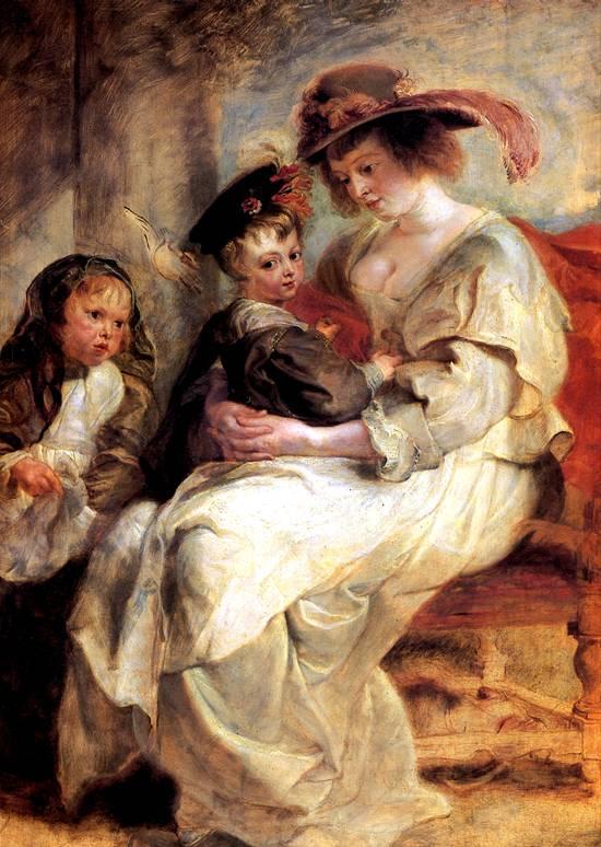РУБЕНС ПИТЕР ПАУЭЛ Елена Фоурмент с детьми Клер-Жанной и Франсуа, ок. 1636-1637